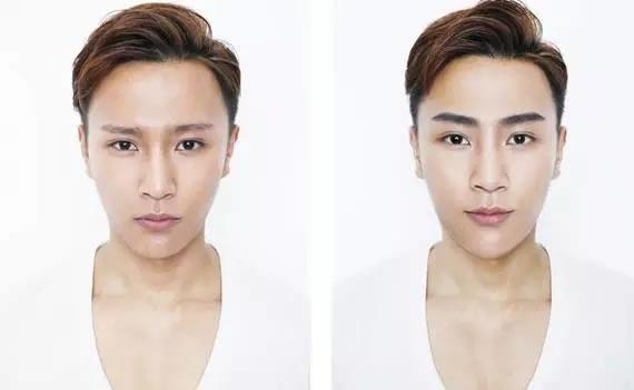 男士纹眉前后对比图