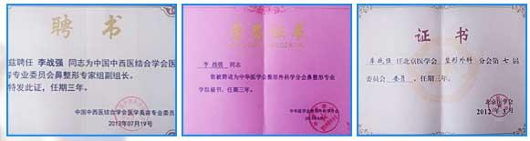 上海美莱李战强资质荣誉